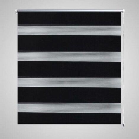 Store enrouleur tamisant 60 x 120 cm noir HDV08115