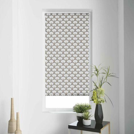 Store enrouleur tamisant 90x180 cm Art Déco Chic - Blanc