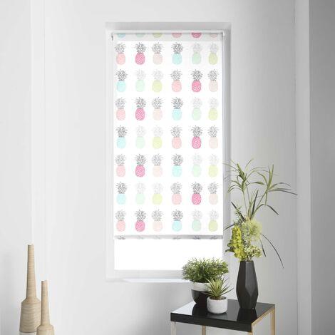 """Store Enrouleur Tamisant Impression """"Ananas"""" Multicouleur 45 x 180cm"""