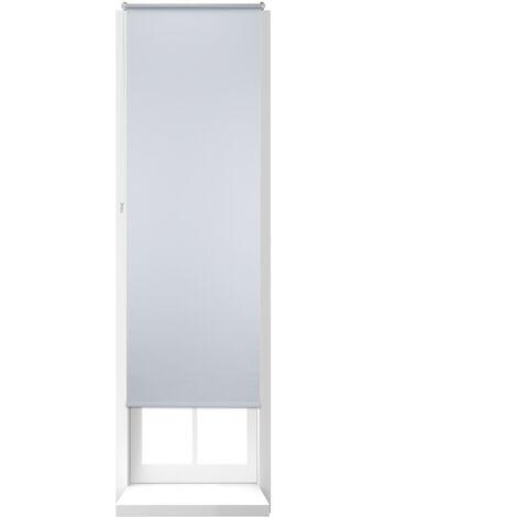 Store Enrouleur Thermique Chaînette latérale Fixation clips sans perçage, 70 x 210, largeur tissu 66 cm, blanc