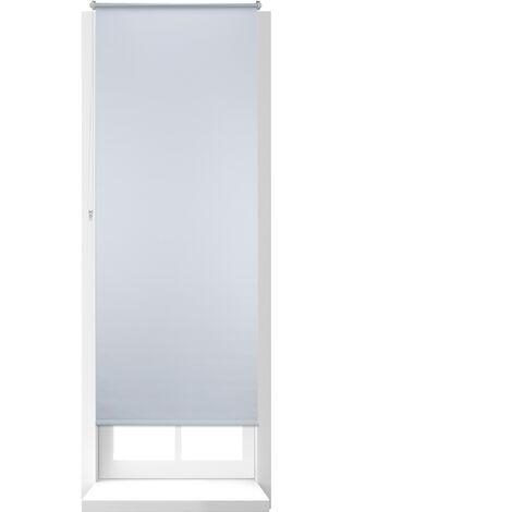 Store Enrouleur Thermique Chaînette latérale Fixation clips sans perçage, 80x210, largeur tissu 76 cm, blanc