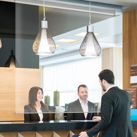 Store Enrouleur Transparent de Distanciation ProtectStore Rail - Transparent - L144 x H180cm - Transparent