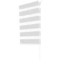 Store enrouleur zébré jour nuit 45 x 170 cm blanc
