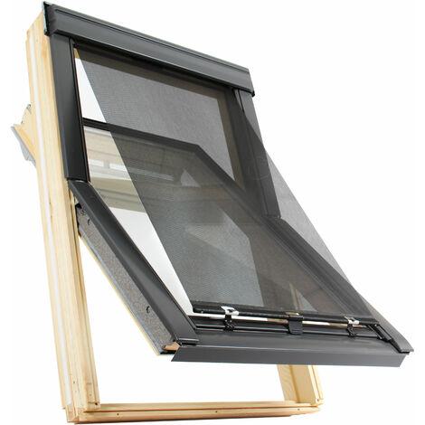 Store Extérieur Pare Soleil Et Modérateur Bruit Averse Pour Fenêtre De Toit Velux Gris