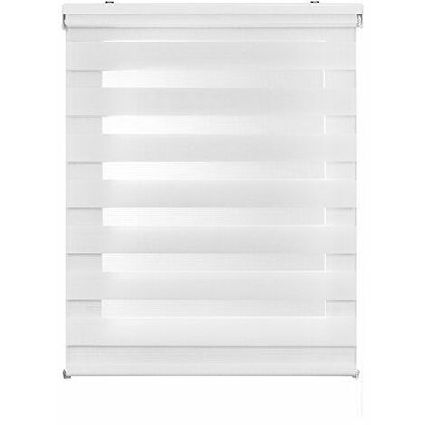 Store Jour Nuit & JourStore enrouleur, blanc 120x6x250 cm blanc