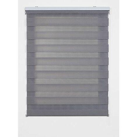 Store Jour Nuit & JourStore enrouleur, couleur gris 90x6x250 cm gris