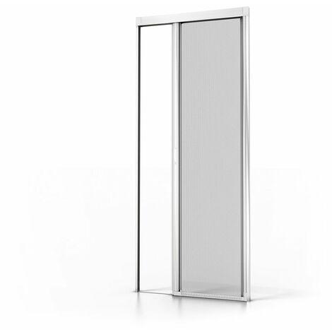Moustiquaire Enroulable Porte Luxe Alu Blanc L1400 X H2300mm