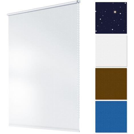 Store occulant fenêtre facile à installer Klemmfix sans perçage 100x150cm blanc