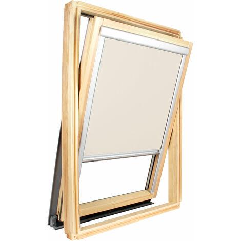 Store occultant Bleu pour fenêtre Roto ® - Vitrage H83.5 x 60cm - Bleu