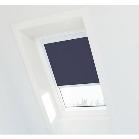 "main image of ""Store occultant compatible Velux ® – Plusieurs modèles - Cadre blanc"""