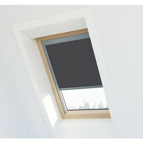 Store occultant Gris anthracite compatible Velux ® 104 - Ossature grise - Gris anthracite