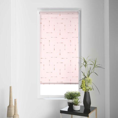 Store tamisant à impressions métalliques flèches Rose 60 x 90 cm