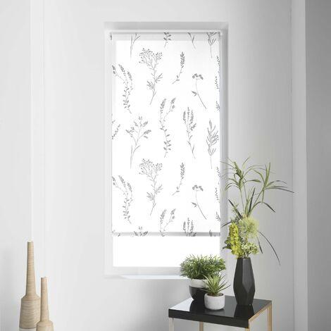 Store tamisant imp. metallique 120 x 180 cm polyester forelista Blanc