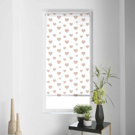 Store tamisant imp. metallique 120 x 180 cm polyester piccolino Or rose