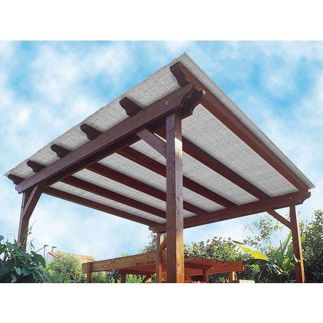 Store terrasse polyvalent Multipaille gris 300 x 90 cm - Jardideco