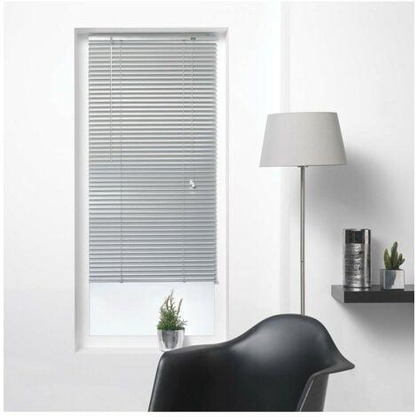 Store vénitien à lamelles 60x130 cm aluminium argent - Gris