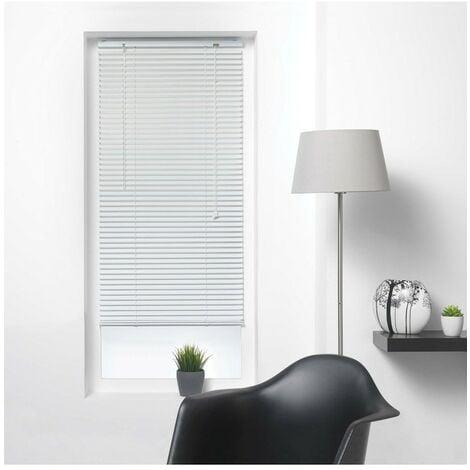 Store vénitien à lamelles 60x130 cm aluminium blanc - Blanc
