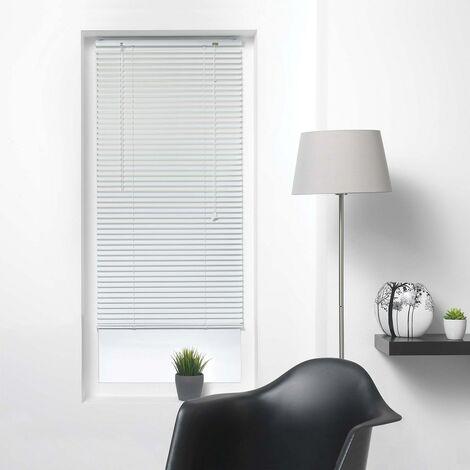 Store vénitien à lamelles 90x130 cm aluminium blanc - Blanc