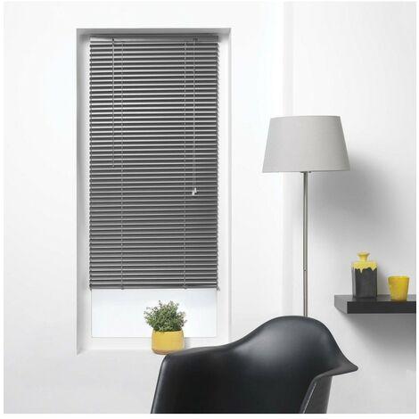 Store vénitien à lamelles 90x180 cm aluminium anthracite - Gris foncé