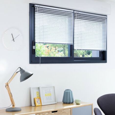 50 x 130cm l x h store v nitien aluminium blanc blanc. Black Bedroom Furniture Sets. Home Design Ideas
