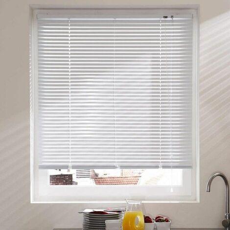 Store vénitien en Aluminium Blanc - Couleur: Blanc - Hauteur: 130 cm - Largeur: 50 cm