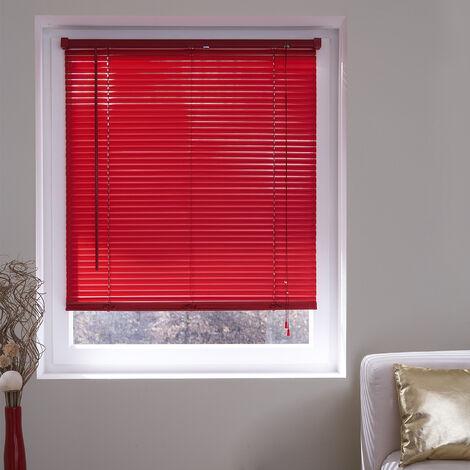 Store Vénitien lamelles Vinyle 25mm - Rouge - L120 x H175cm - Rouge