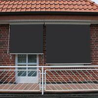Store Vertical Enrouleur Extérieur Pour Terrasse Ou Balcon Blanc Métallique Gris
