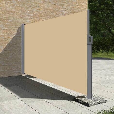 Stores latéral paravent extérieur brise vue pour terrasse - 1.6x3m - Dune