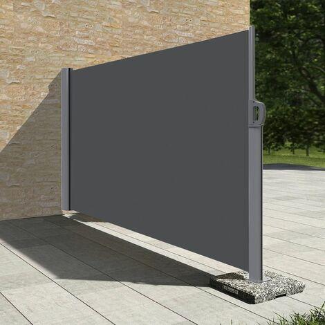 Stores latéral paravent extérieur brise vue pour terrasse - 1.8x3.5m - Gris anthracite