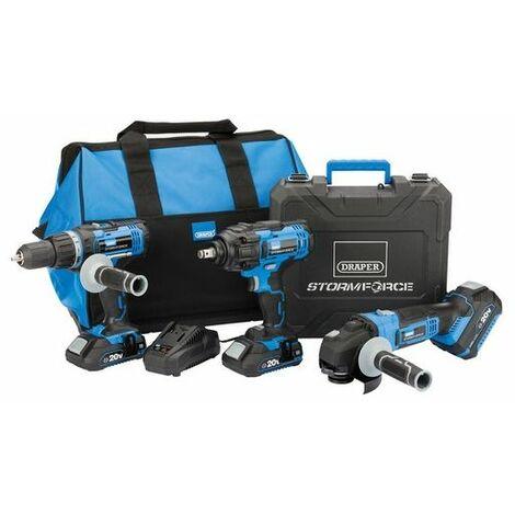 Draper 45499 Storm Force® 20V Cordless Mega Kit (8 Piece)
