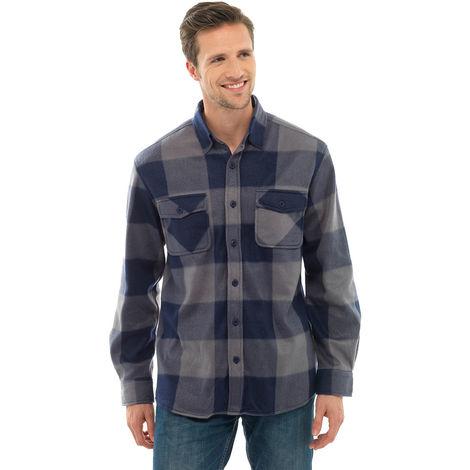 Storm Ridge Mens Polar Fleece Checkered Long Sleeved Shirt