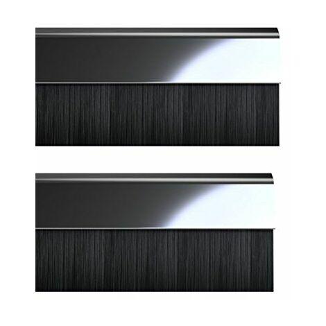 Stormguard 02Am0010914ch BDS Coque Clip en bas de la porte brosse Bourrelet d\'étanchéité, Chrome, 914mm, lot de 2pièces