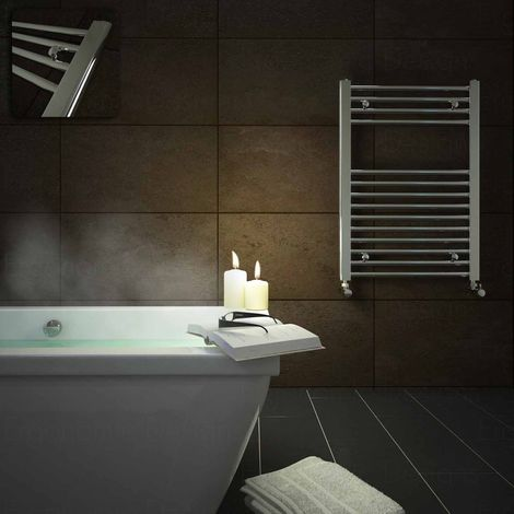 Straight Chrome Heated Bathroom Towel Rail Radiator Warmer 700 X 500mm