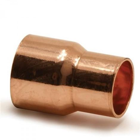 Straight Pipe Fitting Muff Copper Connector Solder 18x15mm Water Installation