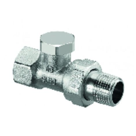 Straight radiator valve with presetting and isolating Combi 2 DN 20 - OVENTROP : 1091163