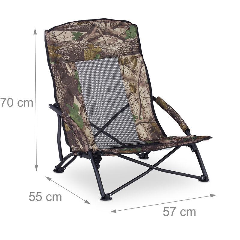 Klappstuhl Campingstuhl Faltstuhl bis 100kg Grün oder Camouflage