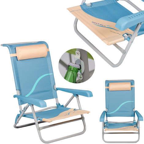 Strandstuhl Mehrfach Verstellbare Ruckenlehne Strandliege