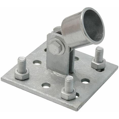 Strebenplatte Aufschraub-Platte Strebenhalter f. Zaunstreben Ø34mm feuerverzinkt