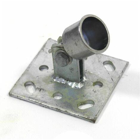 "main image of ""Strebenplatte Fußplatte Ø 34 mm Bodenhülse Einschlaghülse Zaunpfosten Zaunstrebe"""