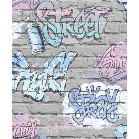 Street Style Grey Freestyle L17906 Muriva Wallpaper