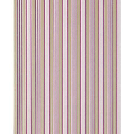 Streifen Tapete EDEM 825-25 hochwertige geprägte Tapete brilliante farben hell-elfenbein lila grün-beige grau 70 cm
