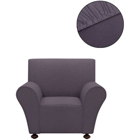 Stretch Couch Slipcover Anthracite Polyester Jersey