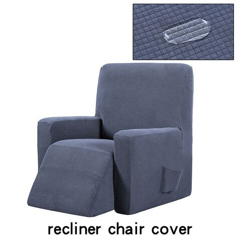 Stretch Recliner Chair Cover Slipcover Waterproof Couch Sofa Furniture Protector darkgrey