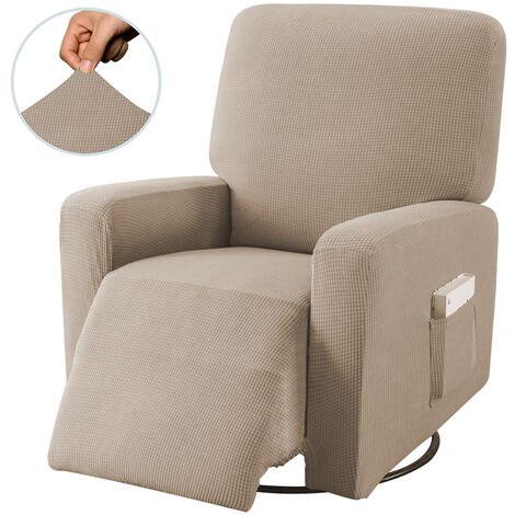 Stretch Recliner Chair Covers Washable Fabric Sofa cover light coffee