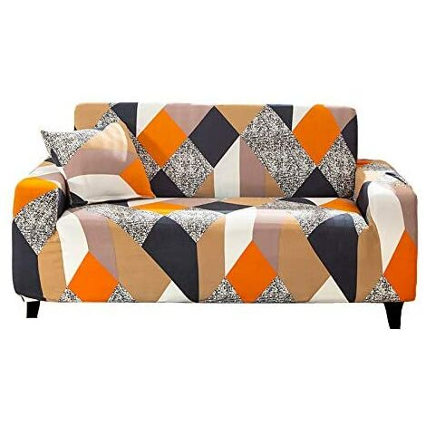"""main image of """"Stretch Sofa Covers  - Printed Elastic Polyester Spandex Arm Chair Couch Covers- Universal Fitted Sofa Slipcover Furniture Protector"""""""