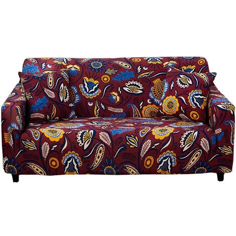"""main image of """"Stretch Sofa Covers  - Printed Elastic Polyester Spandex Arm Chair Couch Covers- Universal Fitted Sofa Slipcover Furniture Protector,#Y-AX"""""""