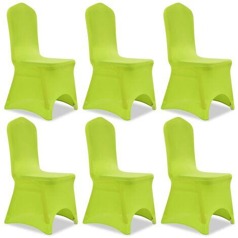 Stretch Stuhlbezug 6 Stück Grün