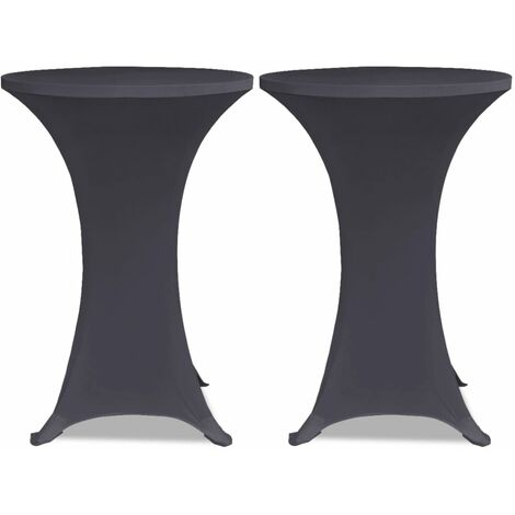 Stretch Table Cover 2 pcs 60 cm Anthracite