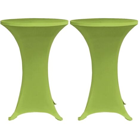 Stretch Table Cover 2 pcs 70 cm Green