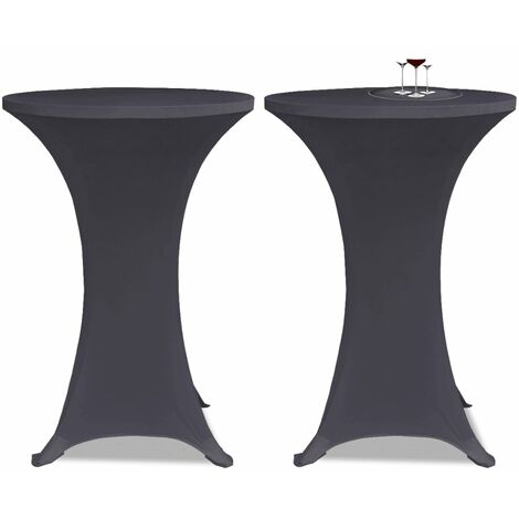 Stretch Table Cover 2 pcs 80 cm Anthracite